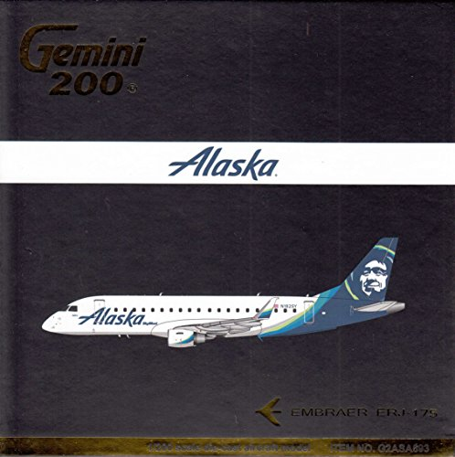 GeminiJets GEMG20693 1:200 Alaska Airlines Embraer ERJ-175 Reg #N493AS ()