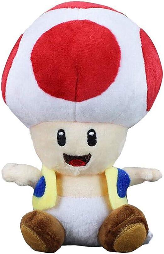 Amazon Com 17cm Super Mario Bros Toad Plush Stuffed Dolls Red