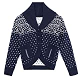 Product review for HeMa Island HMD Kids Boys Blue Cardigan Shawl Sweater For Toddler 3 To 9 Years