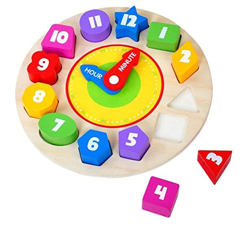 3 Piece Sound Puzzle - Tooky Toy Clock Puzzle Children Toys