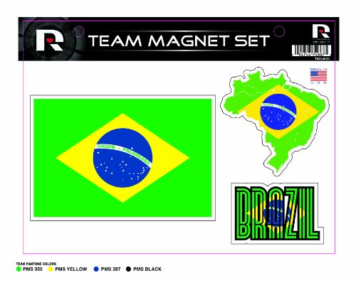 World Cup Soccer Brazil Country Magnet Set