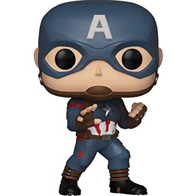 MARVEL AVENGERS: ENDGAME POP! CAPTAIN AMERICA VINYL BOBBLE-HEAD EXCLUSIVE: Toys & Games