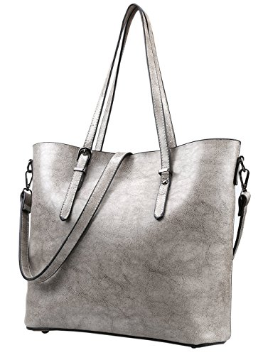 Silver Leather Bag - 8