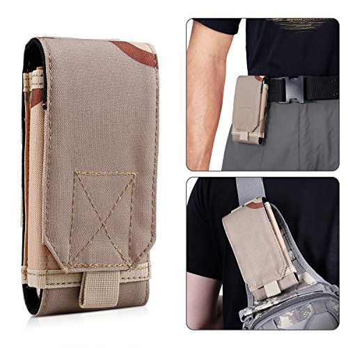 BIENNA Tactical Pouch, Small Military Bag Molle Gear [Waterproof] 1000D Nylon EDC Utility Gadget Phone Velcro Waist Bag Pack Holster Pocket Cover Case for Vest & Phone 4