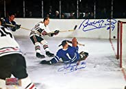 Signed Johnny Bower, Bobby Hull Photo - Toronto, Chicago
