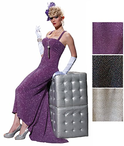 [Women's Club Burlesque Glittery Evening Gown Costume Fancy Dress Lounge Singer] (Singer Fancy Dress Costumes)