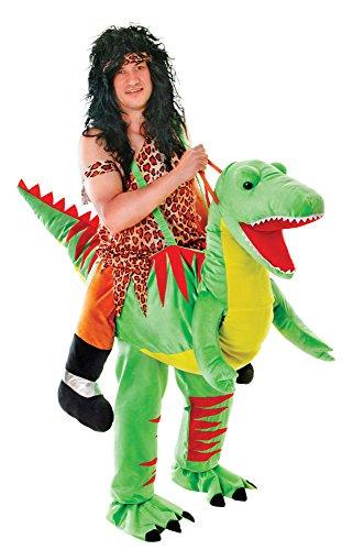 Bristol Clubs Halloween (Bristol Novelty AC444 Dinosaur Step-in Costume, Green, 38/40-Inch Waist)