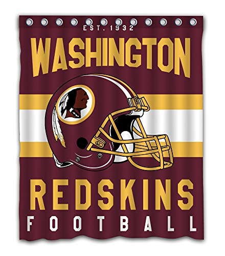 Sonaby Custom Washington Redskins Waterproof Fabric Shower Curtain For Bathroom Decoration (60x72 -