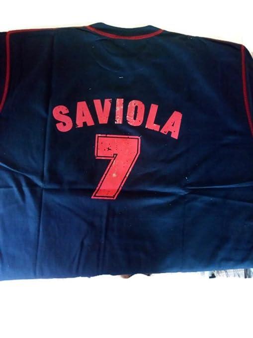 Camiseta FCB vintage Saviola Talla L  Amazon.es  Ropa y accesorios 4cdfefad19b