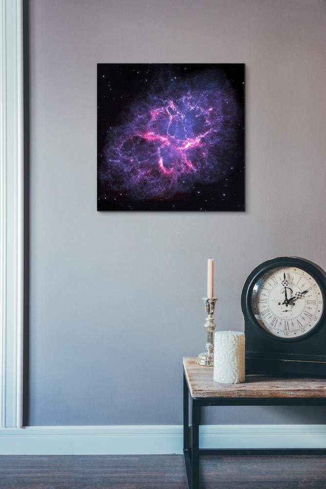 Blue 18 x 18 Epic Graffiti Crab Nebula Hubble Space Telescope Giclee Canvas Wall Art