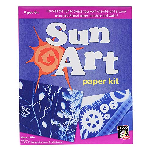 (TEDCO SunArt Paper Kit - Includes 12 Sheets of Light-Sensitive Paper (8