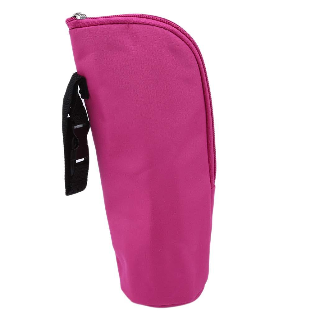 HAOWANG Baby Bottle Insulated Bag Stroller Hangable Bottles Holder Bag Warmer Rose Red 2#