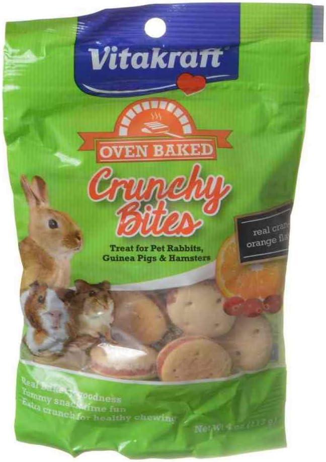 Vitakraft Oven Baked Crunchy Bites Small Pet Treats - Real Cran-Orange Flavor