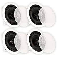 Theater Solutions CS6C In Ceiling 6.5 Speakers Surround Sound Home Theater 2 Pair Pack 2CS6C