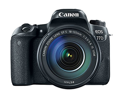Canon EOS 77D 24.2MP Digital SLR Camera + EF-S 18-135 mm 3.5-5.6 is USM Lens with 16 GB Card Inside and Camera Case 4