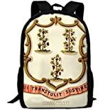 ZQBAAD Connecticut State Coat Of Arms Luxury Print Men And Women's Travel Knapsack
