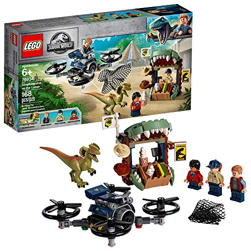 LEGO Jurassic World Dilophosaurus on The Loose 75934 Building Kit (168 Pieces) (Best Lego In The World)