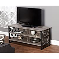 Metro Shop Seneca XX 48-inch Black/ Grey TV Stand-*