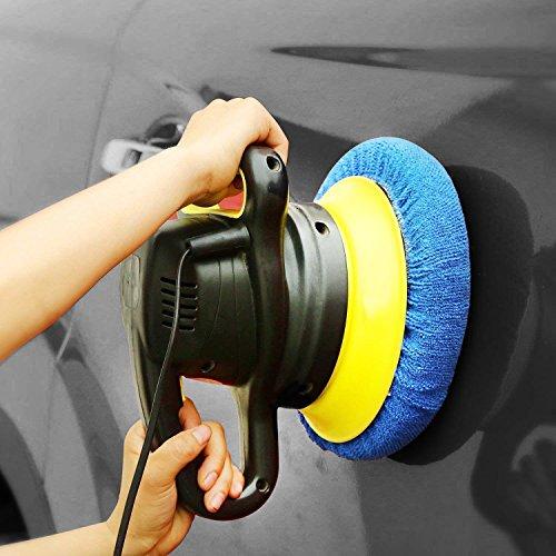 SIQUK 12 Packs Car Polisher Pad Bonnet Set (5 to 6 Inches) including 10 Packs Microfiber Car Polishing Bonnet and 2 Packs Waxing Bonnet for Car Polisher by SIQUK (Image #6)