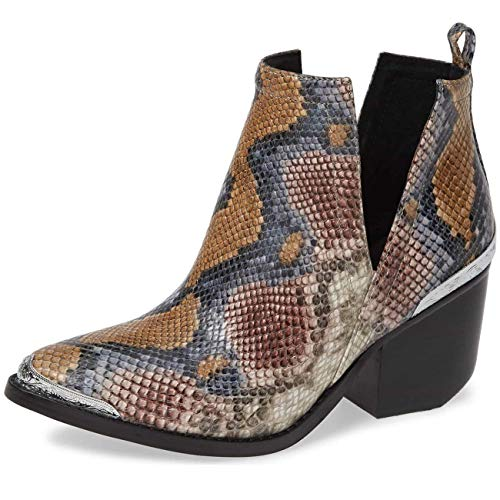 - Jeffrey Campbell Cromwell Snake Embossed Grey Wine Snake Boot 8
