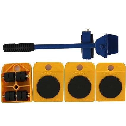 Herramientas de mano 5pcs Transporte Muebles levantador de ruedas Corner Motores de ruedas Diapositivas Mover Rodillos