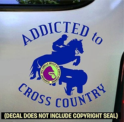 ADDICTED TO CROSS COUNTRY Vinyl Decal Sticker D