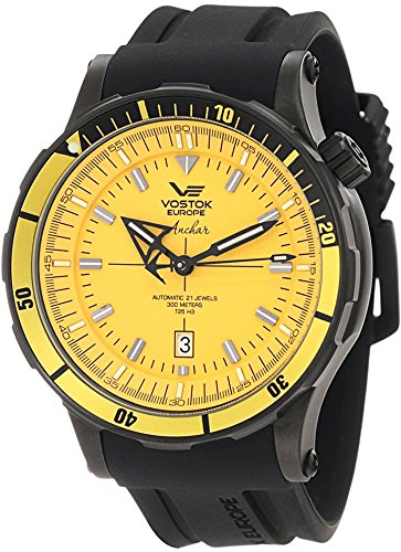 Vostok Europe Anchar Men's Automatic Diver Watch Yellow and Black NH35A/5104144