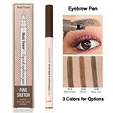 Microblading Eyebrow Pen, Sweat-proof Long-lasting Waterproof Eyebrow Pen for Eyes Makeup (01 Chestnut)