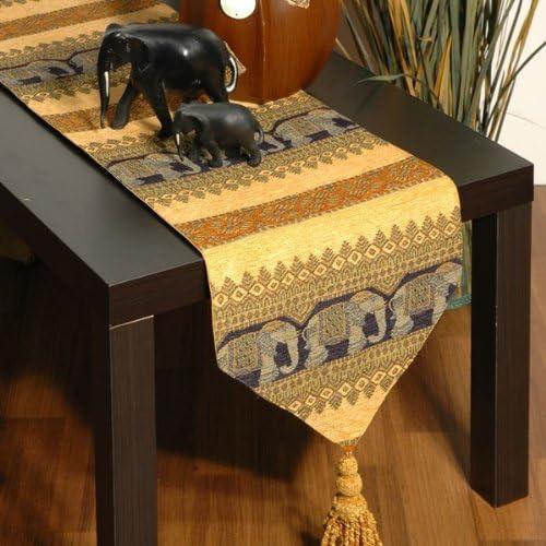 Bronzer Nappe africaine art Animaux Fleurs Lavable