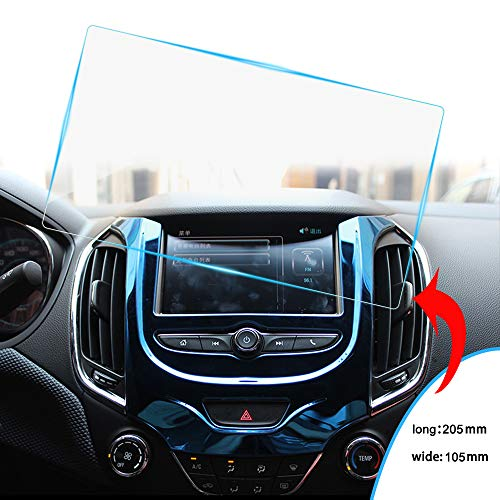 8X-SPEED Car Navigation Screen Protector Auto Hd Clear Tempered Glass Protective Film Touch Screen Protector Anti Scratch 9-Inch (205×105mm)