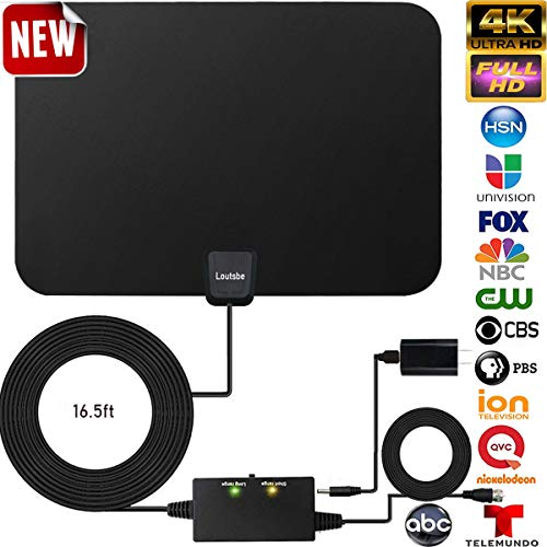 Amplified HD Digital TV Antenna,Skywire TV Antenna 80 Miles Range, Support 4K 1080P, All Older TV's for Indoor Amplified Digital TV Antennas with Switch Console, Signal Booster USB Power Supply (Best Tv For Price 2019)