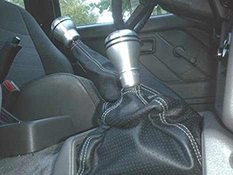 Black Leather-Red Thread 4WD RedlineGoods Shift Boot Compatible with Isuzu Amigo 1991-95