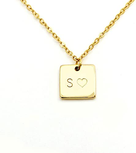 Initial Tag Necklace Gold Initials Silver Initials Personalized Necklace Initial Name Necklace Monogram Necklace Custom Name Necklace