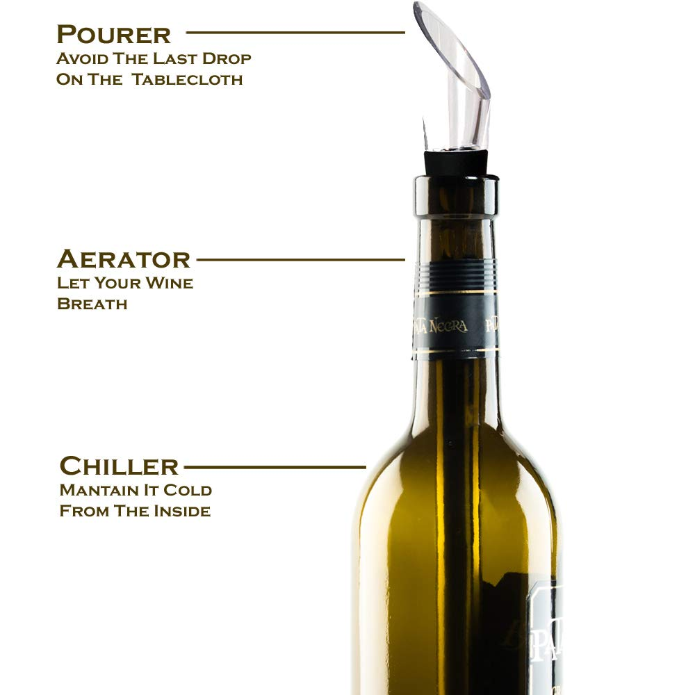 Unique Gift for Drinkers, Set of Wine and Beer Chiller Stick, Pack 2 Bottle Coolers - Wine Aerator Pourer Accessories - Best Idea for Couples - Are Husband Wife Dad Mom Wine Beer Lovers? by Yvento (Image #2)