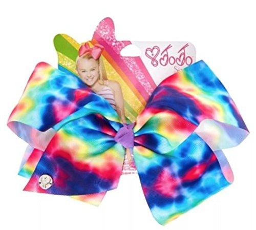 JoJo Siwa Large Rainbow Tie Dye Signature Hair Bow