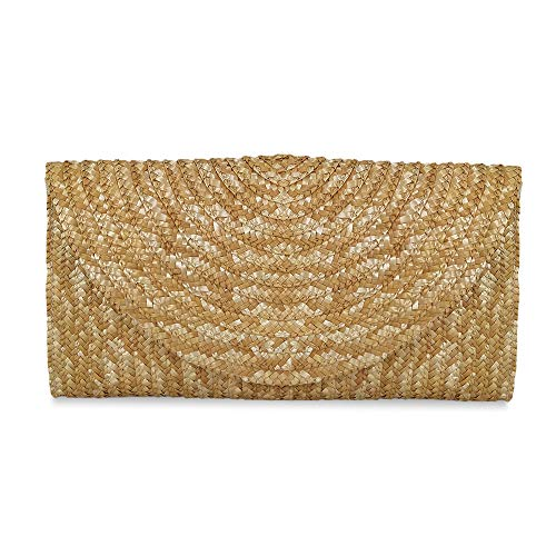 Straw Clutch Handbag, Xmeng Women Straw woven Purse Envelope Bag Wallet Summer Beach Bag for Ladies ()