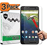 [3-Pack] Nexus 6P Screen Protector, PThink [Tempered Glass] [9H Hardness] [Anti-Scratch] [Fingerprint Resistant] [Easy-Install] Glass Screen Protector for Google Nexus 6P