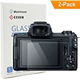 Poyiccot(2-Pack) Canon EOS M50 Tempered Glass Screen Protector, Optical 9H Hardness 0.3mm Ultra-Thin DSLR Camera Glass Canon EOS M50