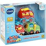 Vtech Tut Tut Bolides - 80-205805 - Coffret Trio Pompiers : LEO + GAETAN + BARNABE - Modèle aléatoire