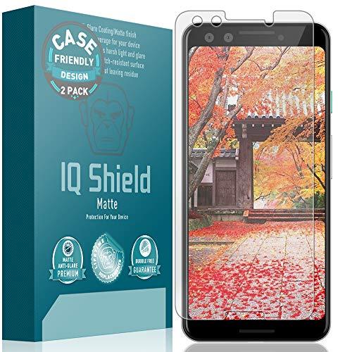 Google Pixel 3 Screen Protector [Case Friendly](2-Pack), IQ Shield Matte Full Coverage Anti-Glare Screen Protector Google Pixel 3 Bubble-Free Film - Free Screen Shield