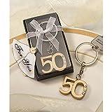 50th Anniversary key ring favors, 36