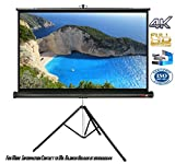 Elcor Tripod Type Projector Screens 4ft.x6ft-84' Diagonal In 4:03 Aspect Ratio, Ultra HD, Active 3D, and HDR Ready