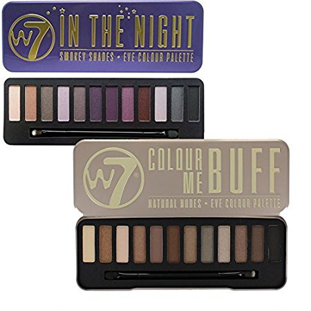 W7 Colour Me Buff Natural Nudes And In The Night Eye Shadow Palette (Nude Buff)
