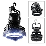 2in1 Fan and Camping Lantern – IMAGE 18 LED hanging/standing Ventilator - bright, portable Garten Lamp - Camping Equipment  for Outdoor Hiking,  Fishing Emergency Outage