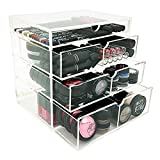 Vencer Acrylic Makeup Organizer Holder Box with 4 Removable Drawers VMO-016