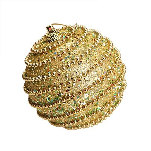 Mysky 8CM Merry Christmas Rhinestone Glitter Baubles Balls Xmas Tree Ornament Decoration
