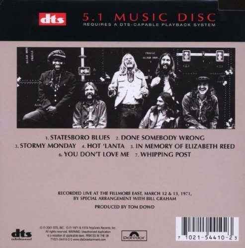 The Allman Brothers Band at Fillmore East by DTS