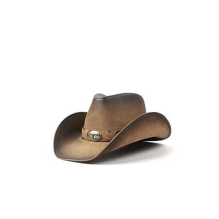 NO BRAND Hombres de Cuero Sombrero de Vaquero Occidental para ...