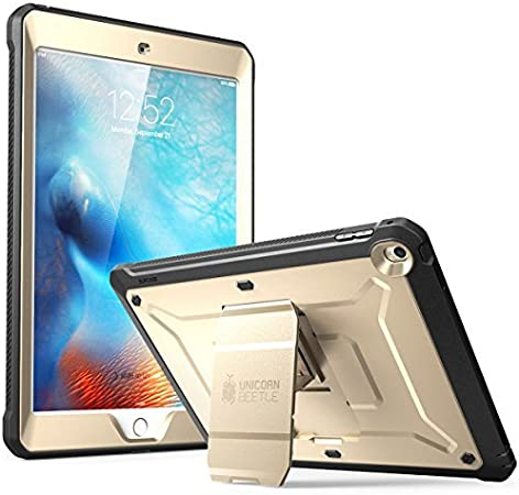 Amazon Com Supcase Unicorn Beetle Pro Series Case Designed For Ipad 9 7 2018 2017 With Built In Screen Protector Dual Layer Full Body Rugged Protective Case For Ipad 9 7 5th 6th Generation Gold Computers