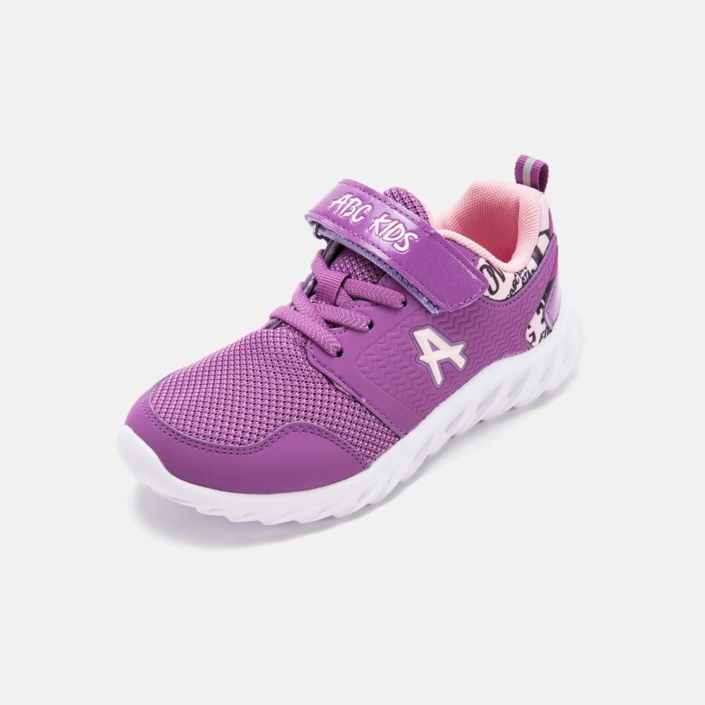 SuperCS Abckids Girls Fashional Breathable Wear-Resistant Anti-Slip Athletic Running Shoes